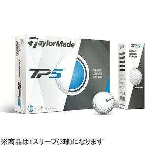 テーラーメイドゴルフ ゴルフボール TP5《1スリーブ(3球)/ホワイト》