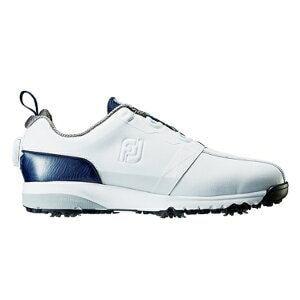 フットジョイ メンズ ゴルフシューズ FJ ULTRA FIT(27.0cm/ホワイト+ネイビー)#54141【靴幅:2E】