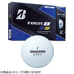 ブリヂストン ゴルフボール TOUR B XS《1スリーブ(3球)/ホワイト・BRIDGESTONE GOLFロゴ》8SBXJ