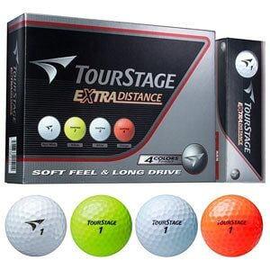 ブリヂストンゴルフ ゴルフボール TOURSTAGE EXTRA DISTNACE 4カラーアソートパック 12個入り BRIDGESTONE TEWXAC EX DISTANCE 4C 12P