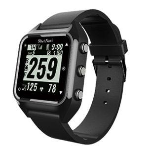 ショットナビ GPSゴルフナビ ウォッチタイプ(ブラック) テクタイト ShotNavi 心拍・活動量計測機能搭載 HUG(B)