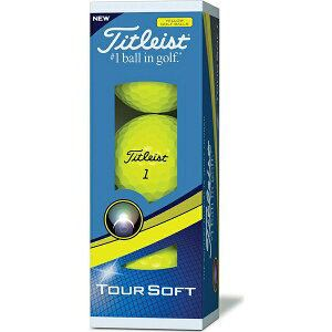 タイトリスト T4111S-3PJ 18 TOUR SOFT YELLOW 3P