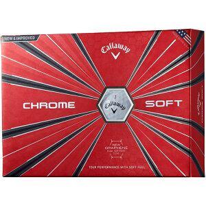 キャロウェイ ゴルフボール CHROME SOFT《1スリーブ(3球)/ホワイト》