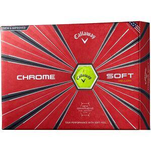 キャロウェイ ゴルフボール CHROME SOFT《1スリーブ(3球)/イエロー》