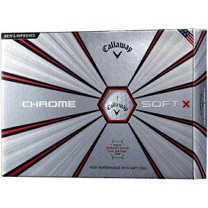 キャロウェイ ゴルフボール CHROME SOFT X《1スリーブ(3球)/ホワイト》