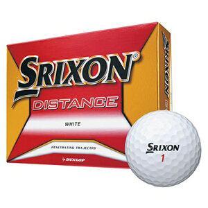 ダンロップ DUNLOP ゴルフボール スリクソン DISTANCE《1ダース(12球)/ホワイト》