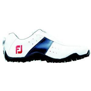 フットジョイ メンズ スパイクレス ゴルフシューズ EXL Spikeless Boa(25.0cm/White×Navy)#45181