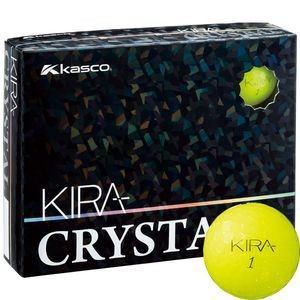 キャスコ KIRA CRYSTAL 1ダース 12個入り (イエロー) Kasco KIRACR YE 12P