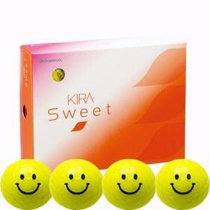 キャスコ KIRASWキヤラY ゴルフボール KIRA SWEET キャラ 3ピース(ダース)キラロー(イエロー) ダ-ス イエロ-