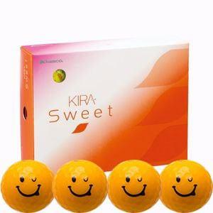 キャスコ KIRASWキヤラO ゴルフボール KIRA SWEET キャラ 3ピース(ダース)キラオ(オレンジ) ダ-ス オレンシ