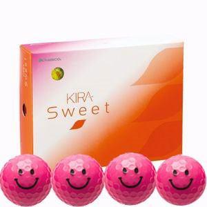キャスコ KIRASWキヤラP ゴルフボール KIRA SWEET キャラ 3ピース(ダース)キラピー(ピンク) ダ-ス ピンク