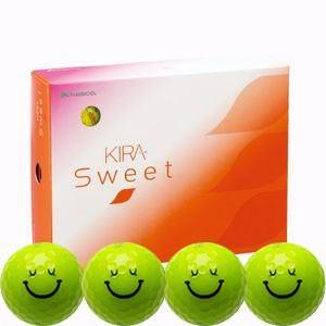 キャスコ KIRASWキヤラL ゴルフボール KIRA SWEET キャラ 3ピース(ダース)キララ(ライム) ダ-ス ライム