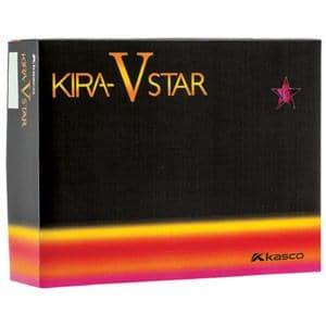 キャスコ ゴルフボール KIRA STAR V ピンク(マット仕上げ) 1ダース 12個入り Kasco KIRA STAR V ピンク