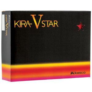 キャスコ ゴルフボール KIRA STAR V レッド(マット仕上げ) 1ダース 12個入り Kasco KIRA STAR V レッド