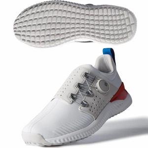 アディダス アディクロス バウンス ボア WG985 メンズ ゴルフ ダイヤル式スパイクレスシューズ ホワイト×グレー 25.0cm