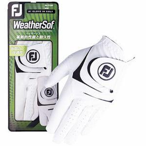 フットジョイ 【メンズ 左手用】ゴルフグローブ WeatherSof(24cm/ホワイト×ブラック)FGWF18