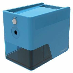 ナカバヤシ DPS-601KB  電動鉛筆削り スリムトレータイプ   ブルー