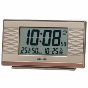 セイコークロック SQ791P 電波目覚まし時計   ピンクゴールド