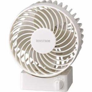 リズム時計 9ZF017RH03 USB扇風機 SilkyWind S ホワイト
