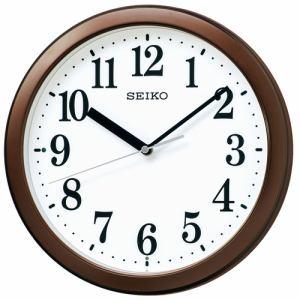 セイコークロック KX256B 電波掛時計 茶メタリjック