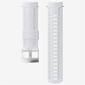 SUUNTO SS050106000 Strap 24WHITE/STEEL M(ストラップ Suunto9 ほか ) 正規品 Suunto9/Spartan sports WHR  ホワイト
