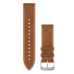 GARMIN 010-12691-1A Quick Releaseバンド20mm Tan Italian Silver Leather