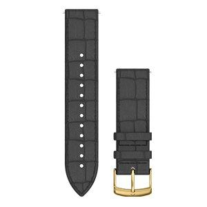 GARMIN 010-12691-1C Quick Releaseバンド20mm Black Embossed Italian Gold Leather
