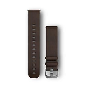 GARMIN 010-12691-11 Quick Releaseバンド20mm DarkBrown Leather