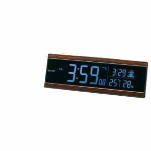 セイコークロック DL306B 電波目覚まし時計 SEIKO  茶木目