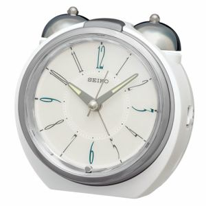 セイコークロック KR507H 目覚まし時計 SEIKO  銀色光沢仕上げ