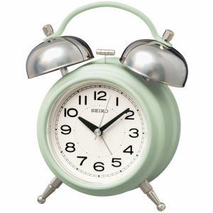 セイコークロック KR508M 目覚まし時計 SEIKO  薄緑