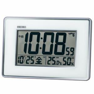 セイコークロック SQ443S 電波掛け時計 SEIKO  シルバーメタリック
