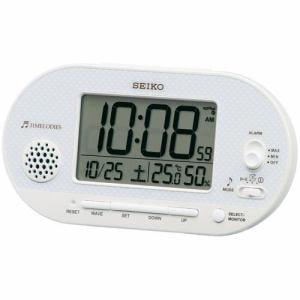 セイコークロック SQ795W 電波目覚まし時計 SEIKO 白パール