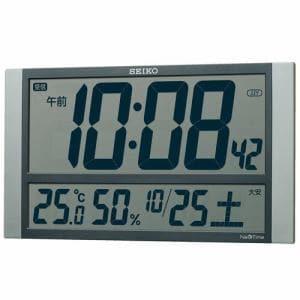 セイコークロック ZS450S 電波掛け時計 SEIKO 銀色メタリック
