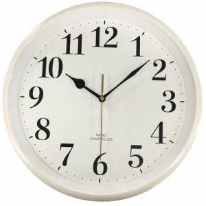 保土ヶ谷電子販売 YHW-A001TR-WH 電波掛け時計 ホワイト