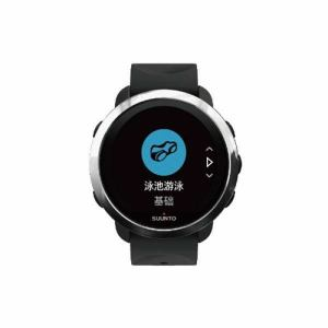 SUUNTO SS050067000 SUUNTO 3 G1 ZH BLACK スント3 ブラック  国内限定販売 中国語対応モデル(日本正規品)