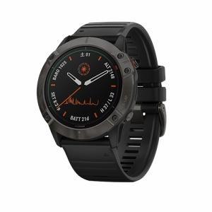 GARMIN 010-02157-53 fenix 6X Pro Dual Power Ti Black DLC GPS 心拍計 ABCセンター マルチスポーツ