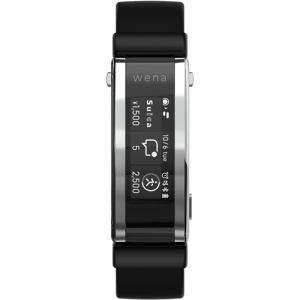 スマートウォッチ ソニー 腕時計 心拍数 Suica Alexa WNW-A21A B wena 3 rubber Black ブラック