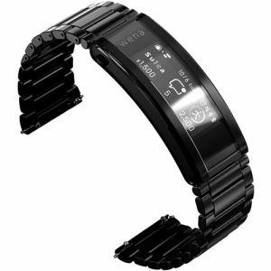 スマートウォッチ ソニー 腕時計 心拍数 Suica Alexa WNW-B21A B wena 3 metal Premium Black ブラック