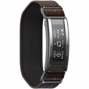 スマートウォッチ ソニー 腕時計 心拍数 Suica Alexa WNW-C21A T wena 3 leather Brown ブラウン