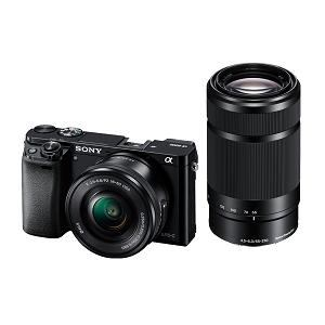 SONY デジタル一眼カメラ α6000 ダブルズームレンズキット (ブラック) ILCE-6000Y(B)