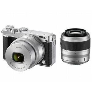 ニコン デジタル一眼カメラ ダブルズームキット シルバー Nikon 1 J5