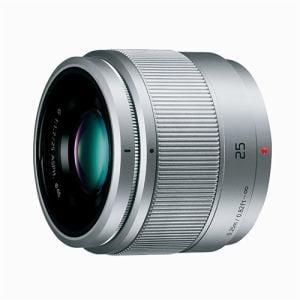 パナソニック 交換用レンズ LUMIX G 25mm/F1.7 ASPH.【マイクロフォーサーズマウント】(シルバー) H-H025-S