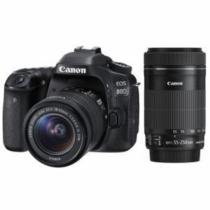 キヤノン デジタル一眼カメラ 「EOS 80D」ダブルズームキット EOS80D-WKIT