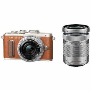 オリンパス EPL8-WKIT-BRW ミラーレスデジタル一眼カメラ「PEN E-PL8」EZダブルズームキット ブラウン