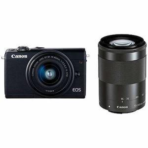 キヤノン EOSM100BK-WZK ミラーレス一眼カメラ 「EOS M100」 ダブルズームキット ブラック