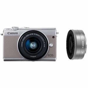 キヤノン EOSM100GY-WLK ミラーレス一眼カメラ 「EOS M100」 ダブルレンズキット グレー