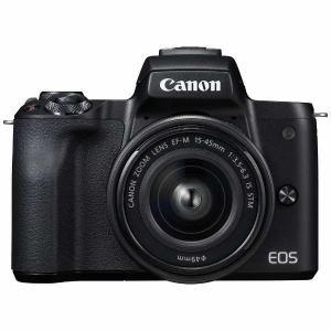 キヤノン EOSKISSM-L1545KBK ミラーレス一眼カメラ 「EOS Kiss M」 EF-M15-45 IS STM レンズキット (ブラック)