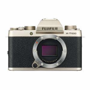 富士フイルム XT100-BODYG ミラーレス一眼カメラ 「X-T100」ボディ(シャンパンゴールド)