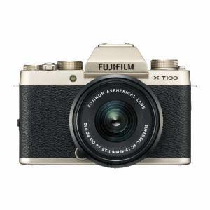富士フイルム XT100-LKITG ミラーレス一眼カメラ 「X-T100」レンズキット(シャンパンゴールド)
